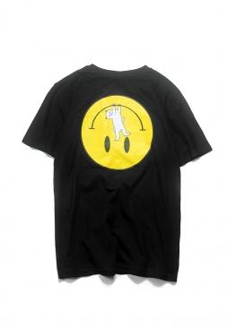 Чёрная футболка Rip n Dip с котом в кармане - FR1111