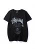 Чёрная футболка Stussy - FU1115