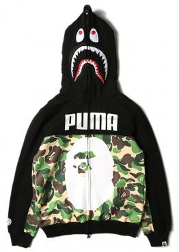 Зелёный худи Bape x Puma - HA1112