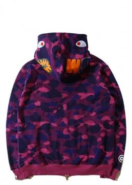 Фиолетовый худи Bape Camo - HA1119