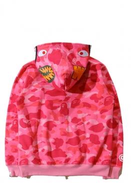 Розовый худи Bape Camo - HA1120