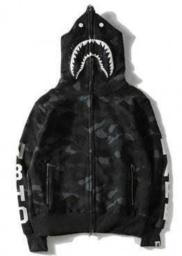 Чёрный худи Bape NBHD Camo - HA1125