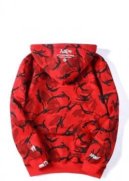 Красный худи Bape - HA1132