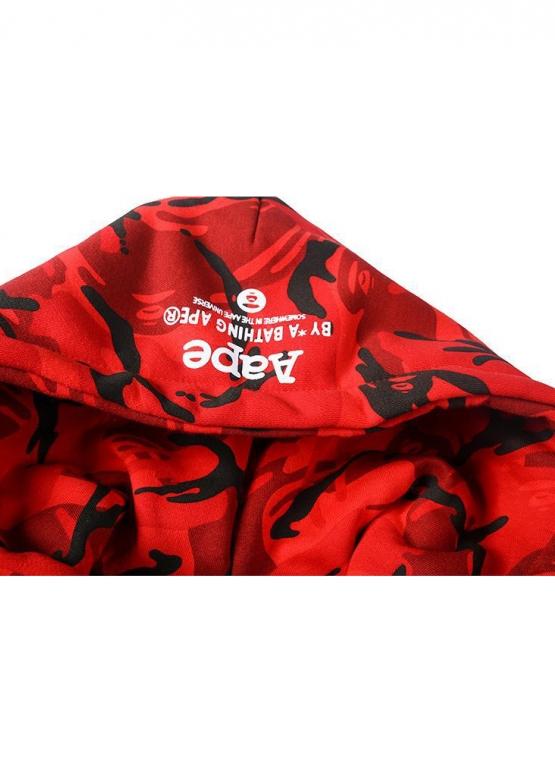 Купить красный худи Bape в Киеве с доставкой по Украине