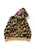 Жёлтый худи Bape 1st Camo Shark Full Zip Hoodie Yellow - HA1138
