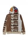 Купить бежевый худи Bape Desert Camo Panel Shark Full Zip Hoodie Ladies в Киеве с доставкой по Украине