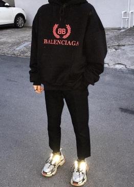 Чёрный худи Balenciaga - HB1116