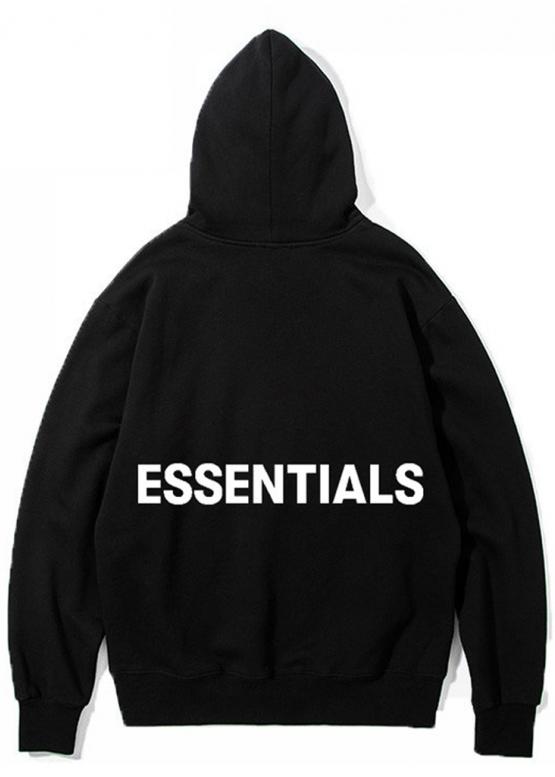Купить чёрный худи Essentials в Киеве с доставкой по Украине