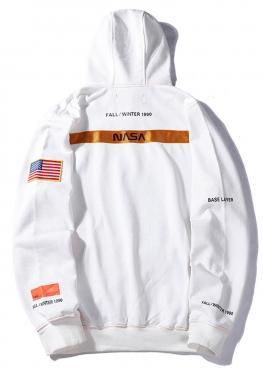 Белый худи NASA x Heron Preston - HI1111