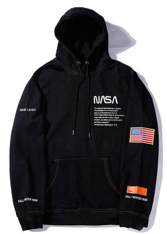 Купить чёрный худи NASA x Heron Preston в Киеве с доставкой по Украине