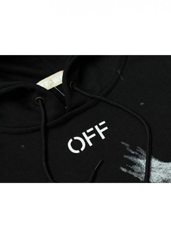 Купить чёрный худи Off-white купить в Киеве с доставкой по Украине