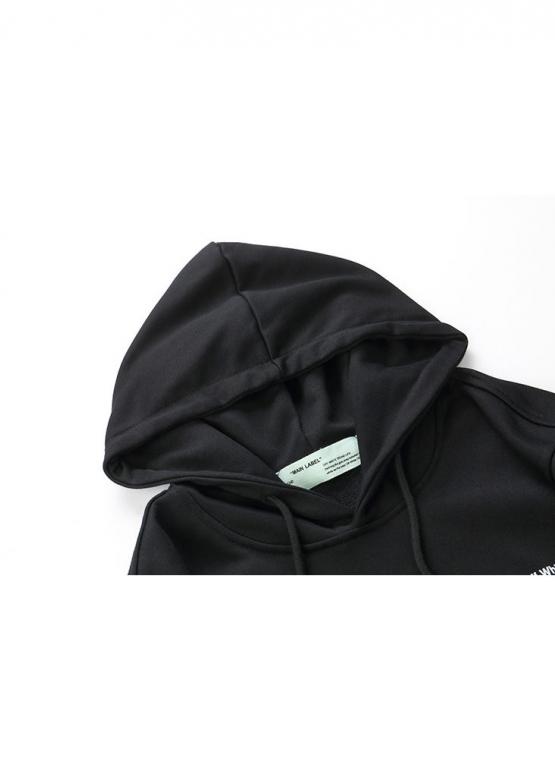 Купить чёрный худи Off-white в Киеве с доставкой по Украине