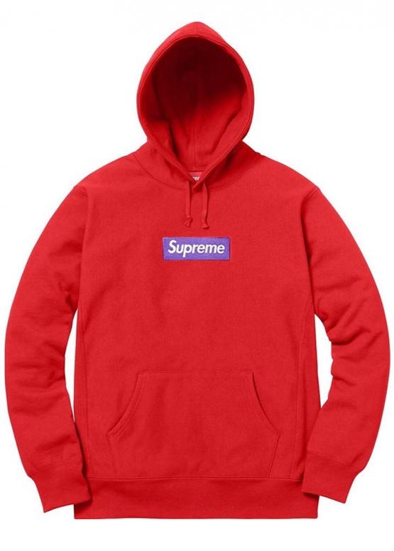 Красный худи Supreme Box Logo купить в Киеве с доставкой по Украине