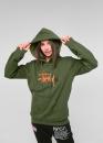 Купить зелёный худи Stussy в Киеве с доставкой по Украине