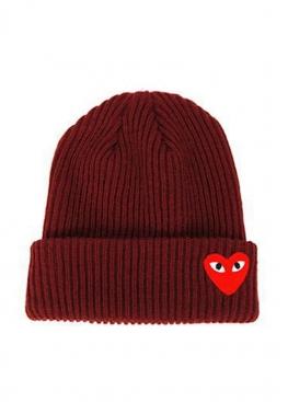 Бордовая шапка Comme Des Garcons - IC1113