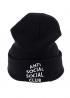 Чёрная шапка Anti Social Social Club - IN1111