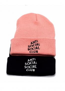 Розовая шапка Anti Social Social Club - IN1112