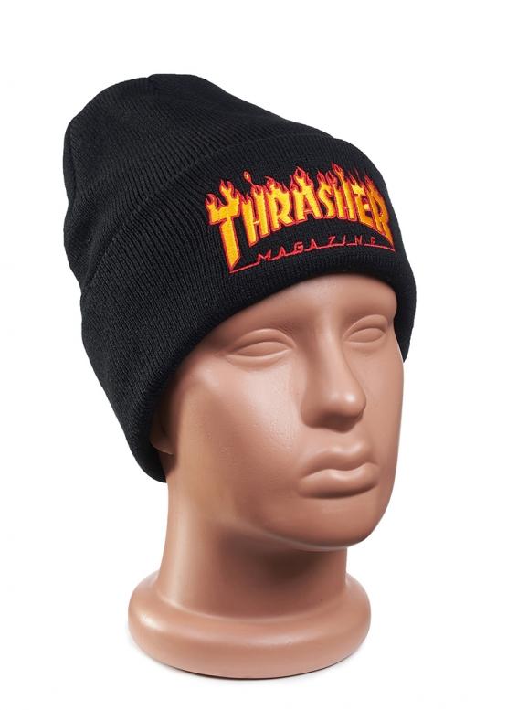 Купить чёрную шапку Thrasher в Киеве с доставкой по Украине