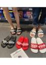 Купить чёрные шлепанцы Supreme в Киеве с доставкой по Украине
