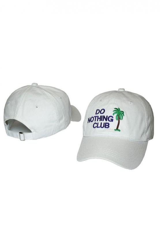 Купить белую кепку Do Nothing Club в Киеве с доставкой по Украине