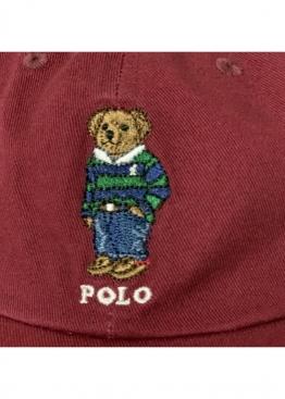 Бордовая кепка Polo Ralph Lauren Bear - KL1115