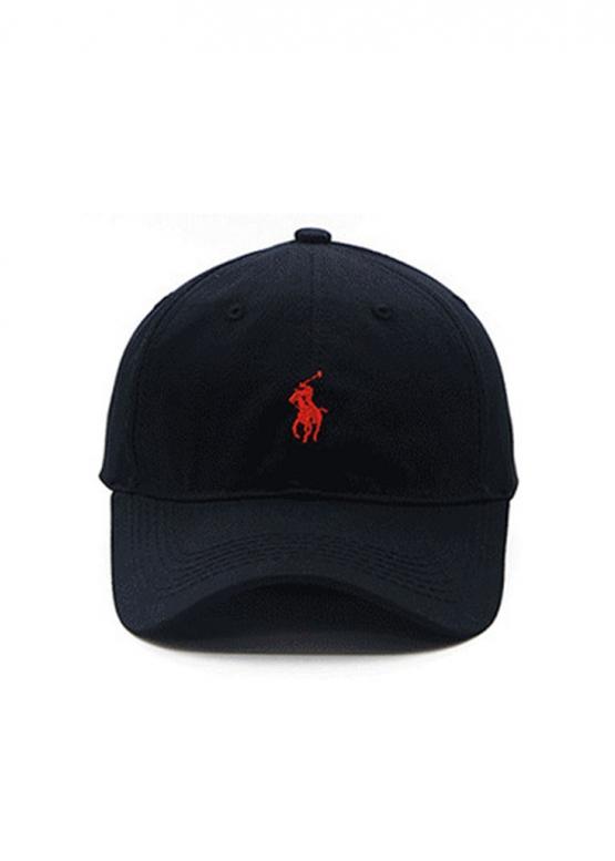 Купить чёрную кепку бейсболку Polo Ralph Lauren с красным всадником в Киеве с доставкой по Украине