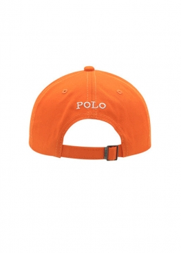 Оранжевая кепка бейсболка Polo Ralph Lauren - KL1117