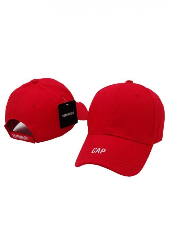 Купить красную кепку бейсболку Vetements Cap в Киеве с доставкой по Украине