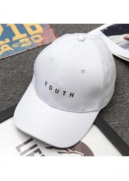 Белая кепка бейсболка Youth - KY1113