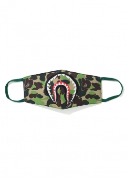 Зелёная маска Bape ABC Camo Shark Mask Green - MA1112