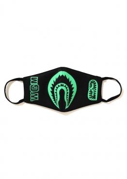 Чёрная маска Bape Glow In The Dark Shark Mask Black - MA1114