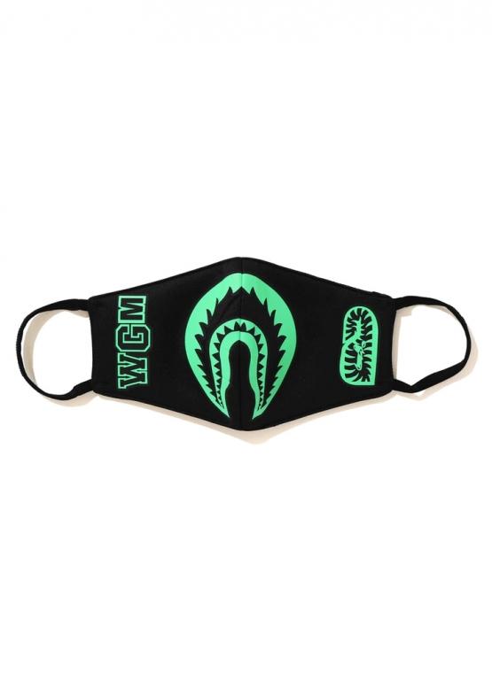 Купить чёрную маску Bape Glow In The Dark Shark Mask Black в Киеве с доставкой по Украине