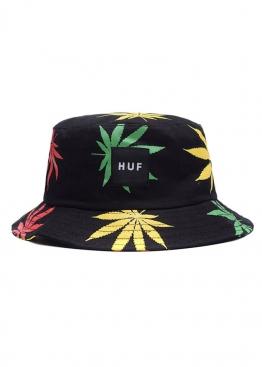 Чёрная панама Huf с марихуаной - PF1111