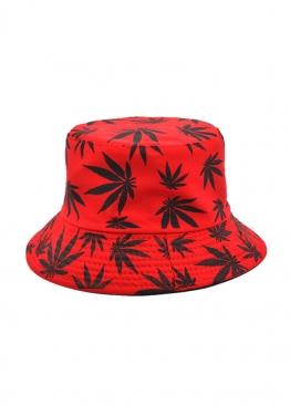 Красная панама с чёрной марихуаной - PF1118