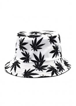 Белая панама с чёрной марихуаной - PF1120
