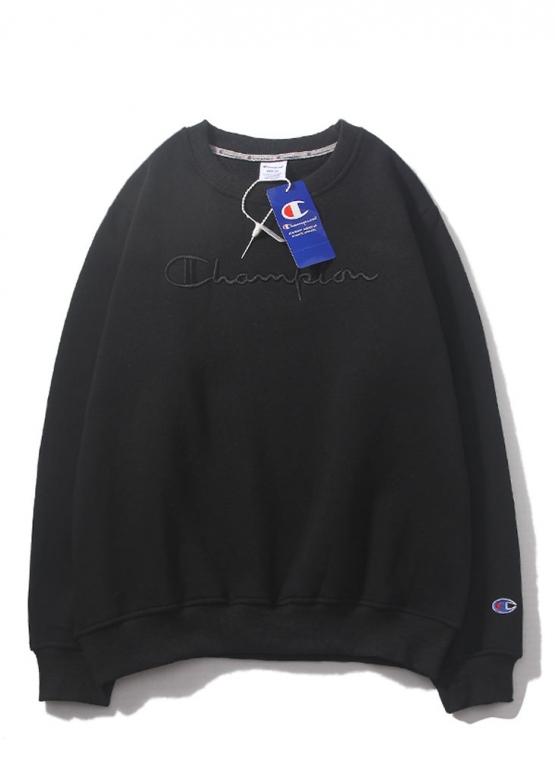 Купить чёрный свитшот Champion в Киеве с доставкой по Украине
