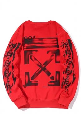 Красный свитшот Off-white - SO1116