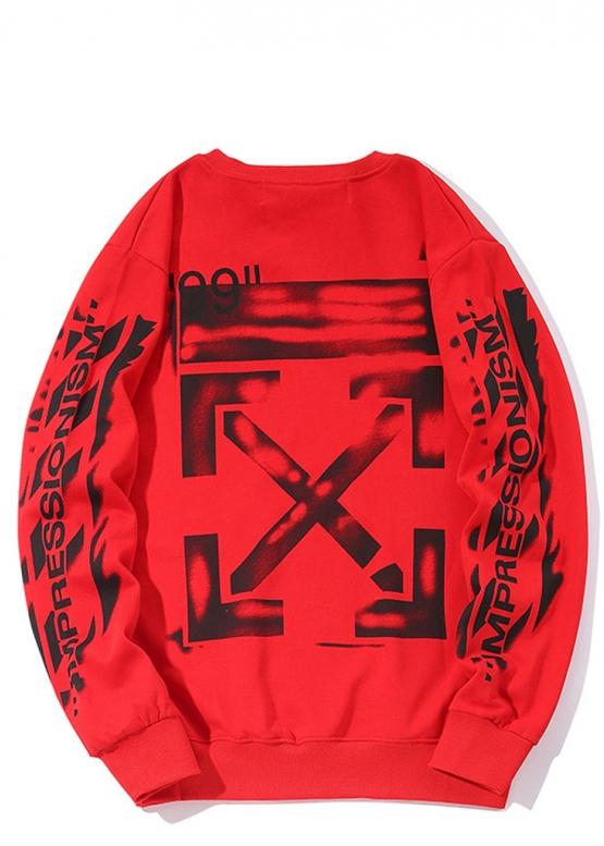 Купить красный свитшот Off-white в Киеве с доставкой по Украине