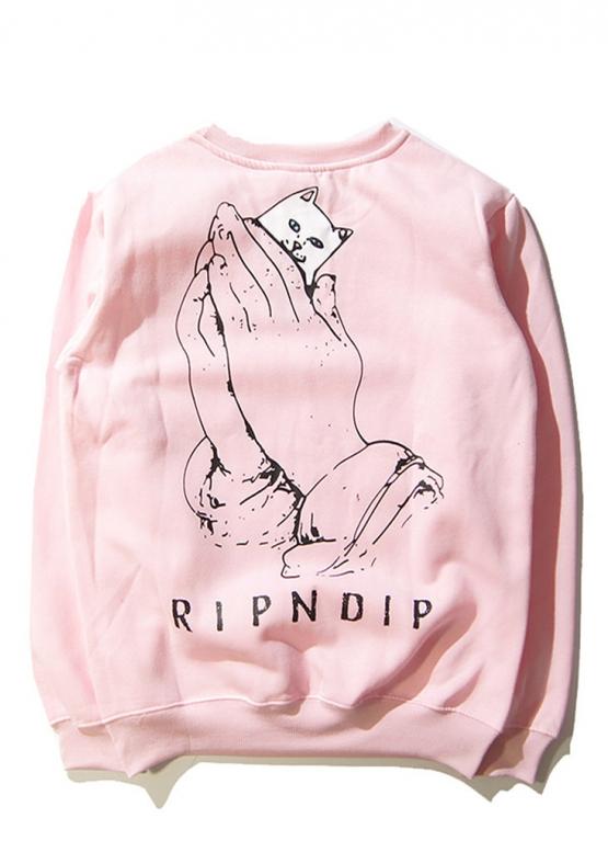 Розовый свитшот Rip n Dip купить в Киеве с доставкой по Украине