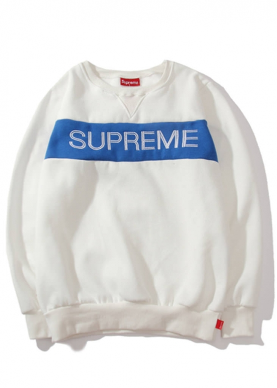 Купить белый свитшот Supreme в Киеве с доставкой по Украине