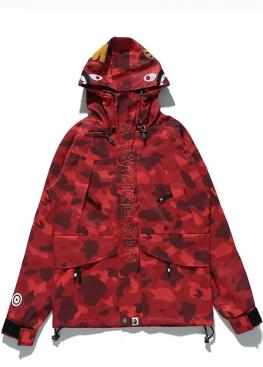 Красная ветровка Bape Camo - VA1114