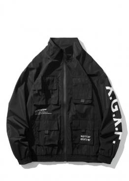 Чёрная куртка-ветровка в стиле Cyberpunk - VL1111