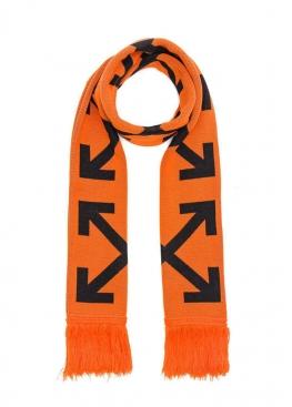 Оранжевый шарф Off-white - WO1111
