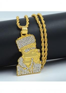 Золотая цепочка с амулетом Bart Simpson - XS1113